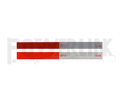 Replective tape silver and red