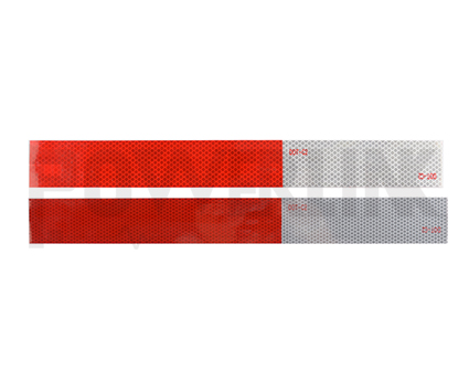 Replective tape 11inch red 7inch white
