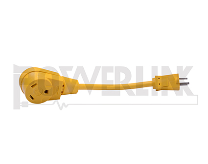 15A Male To 30A Female RV Adapter Extension Cord 12/3 STW