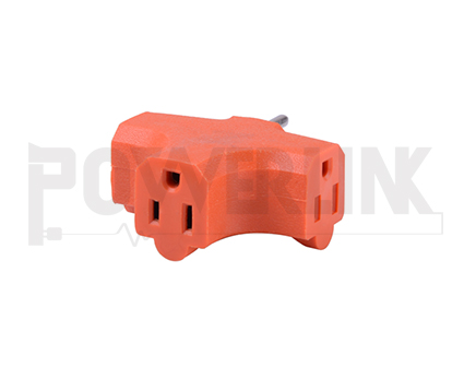 3 Outlets Grounding Adapter