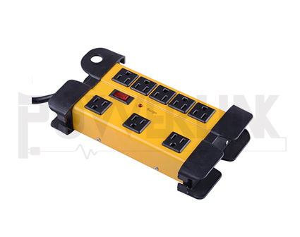 8 Outlets Metal Power Strip, Surge Protector 1200J