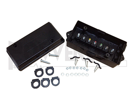 BLACK JUNCTION WIRE BOX